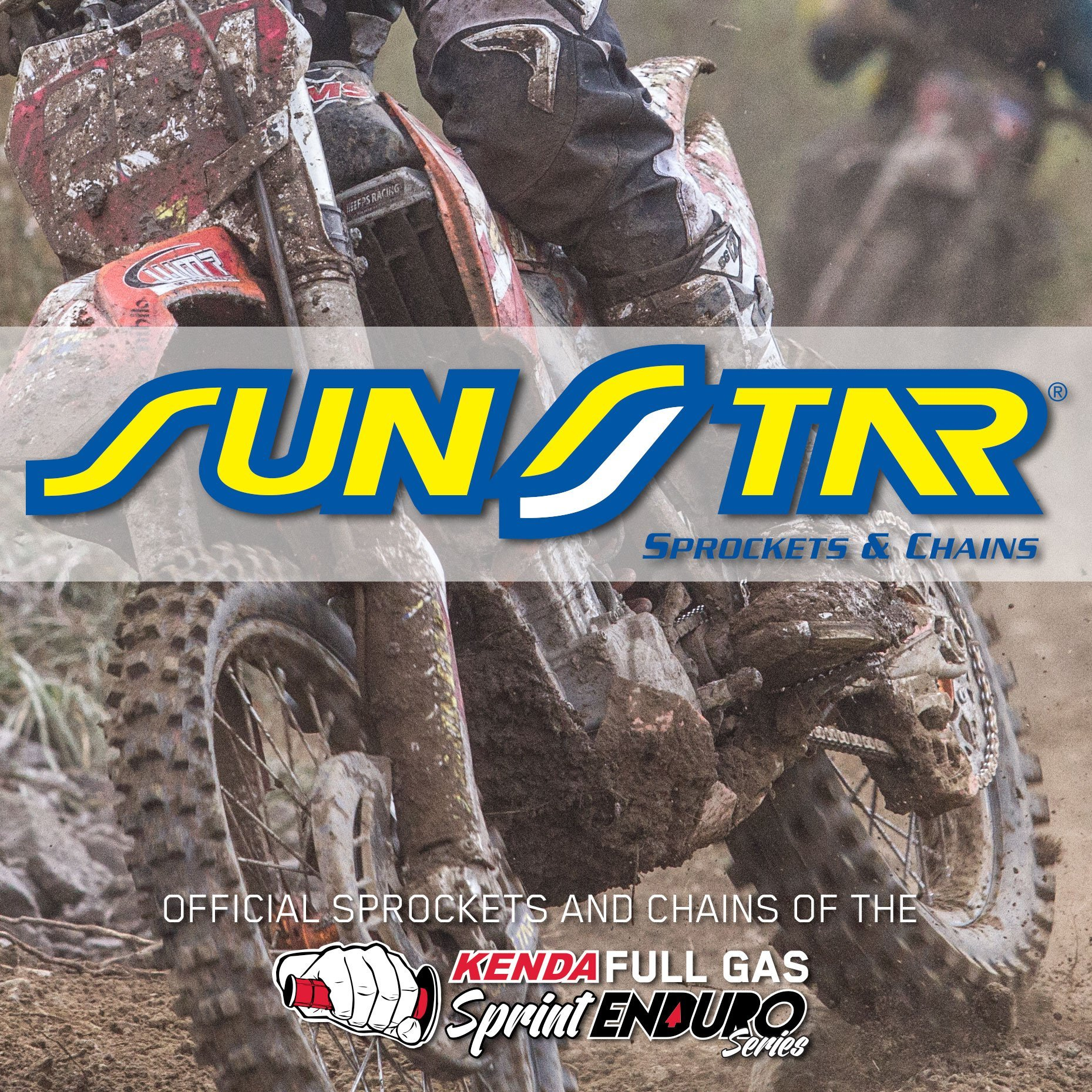 Sunstar Becomes Official Sprocket and Chains of Kenda Full Gas Sprint Enduro Series