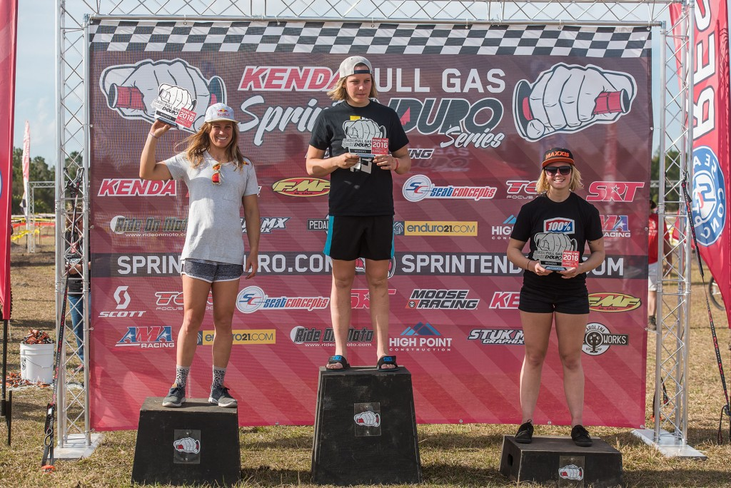 Mackenzie Tricker, Tarah Geiger, and Brooke Cosner were top-3 in Women's Pro