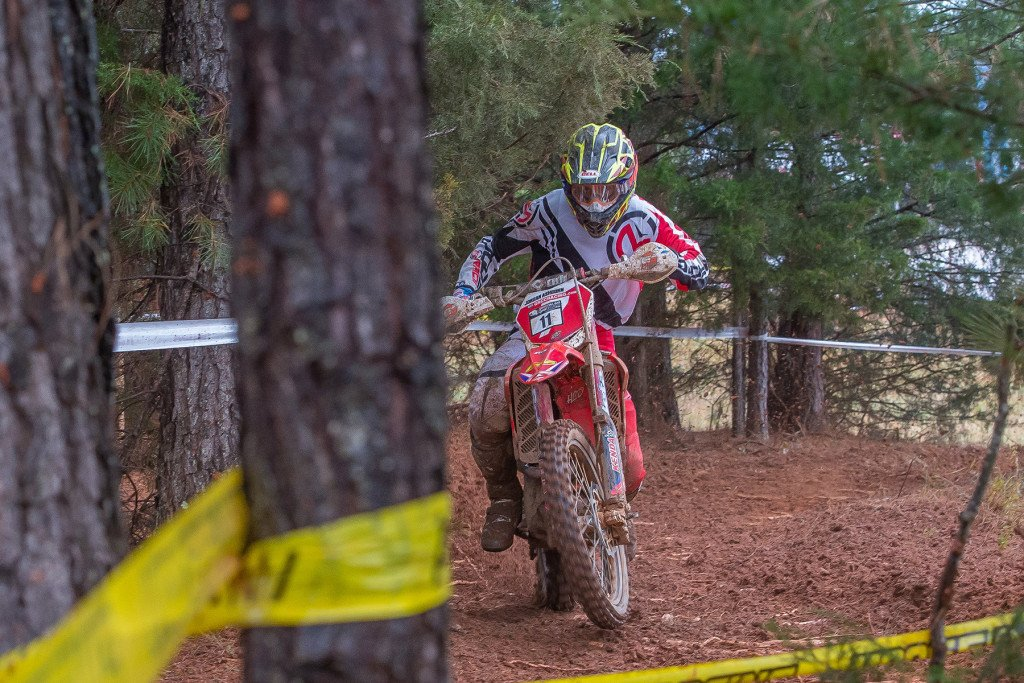 Jordan Ashburn on his new Beta ride. Photo: Shan Moore